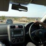 driving trough Phabeni Gate