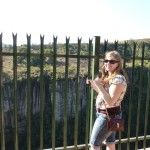 Dana near the cliffs