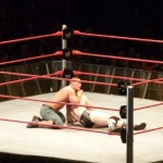 Cena battling it out with Sheamus